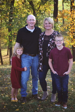 Loup Carload Marketing Manager Dana Ratcliff and her family.
